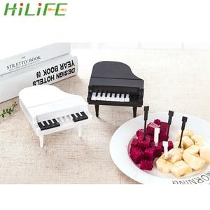 10pcs/set Piano Fruit Forks Dessert Forks Creative Food Picks Kitchen Accessories Tools Fruit Snack Toothpick