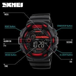 Image 5 - SKMEI Japan Digital movement Men Sport Watches LED Display Male Wristwatch 50m Waterproof Stopwatch Clock Relogio Masculino 1243