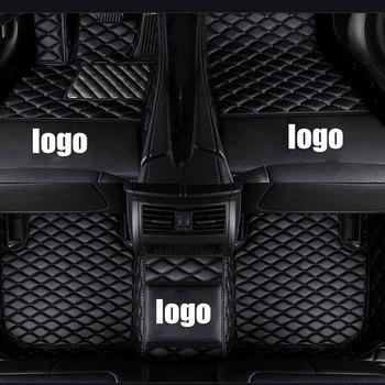 custom car floor mats Luxury Leather Waterproof for Ford focus mk2 explorer kuga fusion ranger ecosport mondeo auto accessories