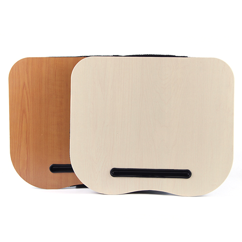 Laptop Pad Desk Writing Desk Portable Laptop Computer Desk Laptop Table With Phone Tablet Holder Stand With Pillow Cushion