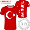 2021 Summer Boys TURKEY t shirt turk country flag Girls Streetwear Children Kids Clothes Baby Funny Tshirt