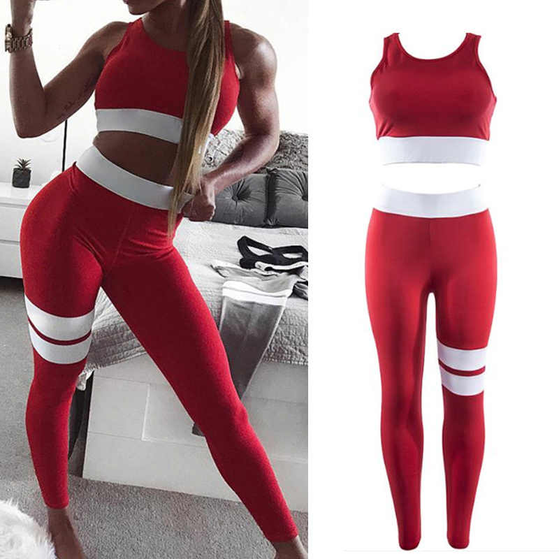 NEW Women Tracksuit Yoga Set Sports Suit Top Leggings Breathable for Running Fitness
