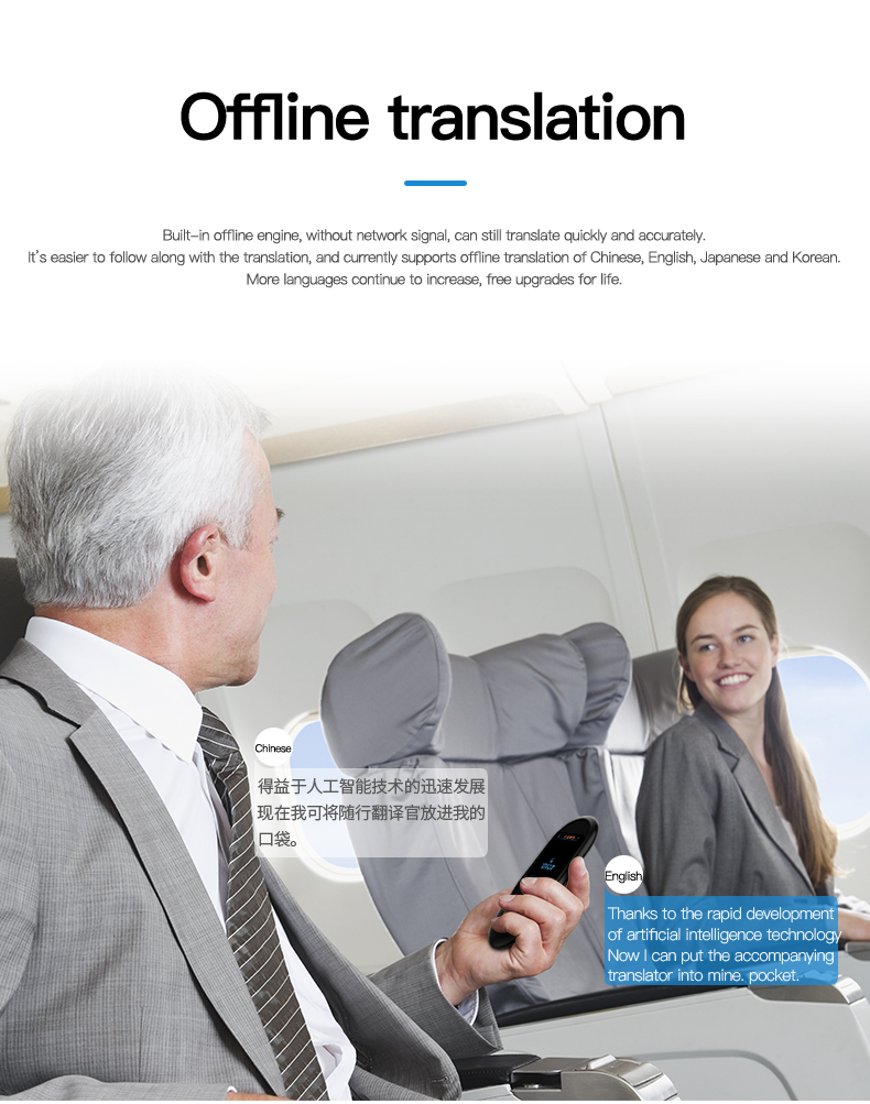Voice and Photo Scanning Pocket Language Translator with 2.4 Inch Touch Screen and WIFI Supports 79 Languages and Offline Translation 10
