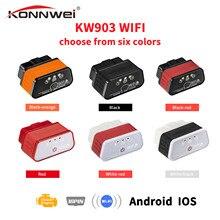 EML327 OBD2 Wifi V 1,5 Auto escáner de diagnóstico ODB 2 Autoscanner Konnwei KW903 ELM 327 Wi Fi OBD2 adaptador Bluetooth para Iphone