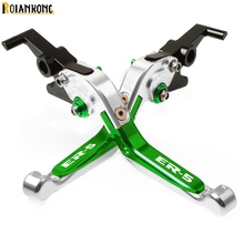Motorcycle CNC Adjustable Brake Clutch Levers handle Accessories For KAWASAKI ER-5 2004 2005 2004-2005