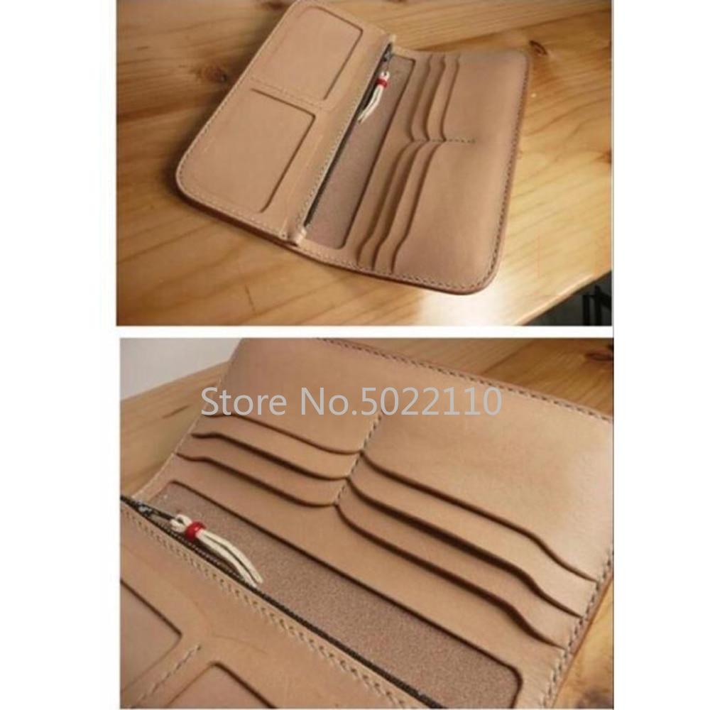 Japon lame en acier bois meurt coupe pour artisanat cuir bricolage Multi poche Double Photo Position portefeuille couteau moule poinçon outil ensemble
