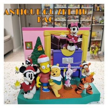1Set/4PCS 5-10cm Hohe qualität authentische Japanische original Weihnachten serie Mickey Minnie maus ornament anhänger puppe Sammlung