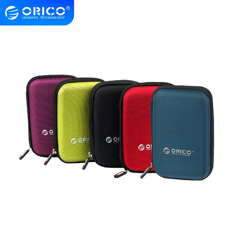 ORICO 2,5 pulgadas HDD y SSD bolsa de protección bolsa de Nylon con cremallera Mini banco de potencia Caseelectronic organizador Estuche de transporte