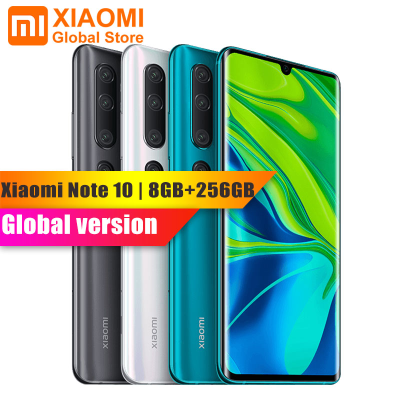 Global Version Xiaomi Mi Note 10 Pro 8GB 256GB Mobile Phone NFC Snapdragon 730G Octa Core 108MP Cam 5260mAh 30W Fast Smartphone