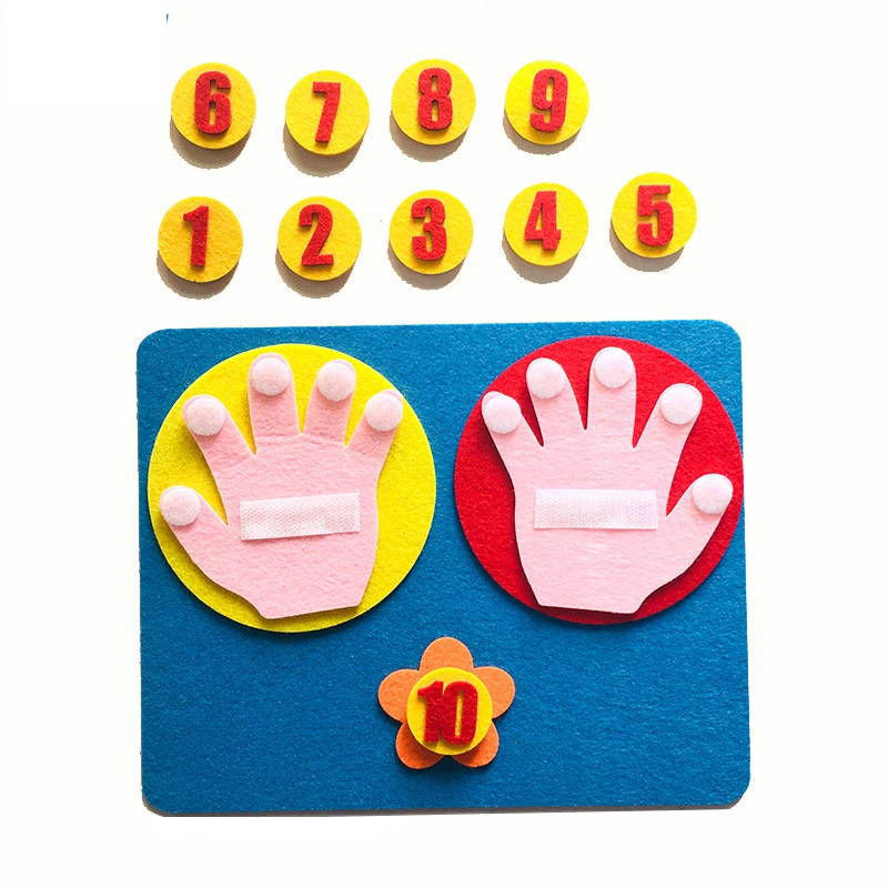 1 Set Montessori 1-10 Numbers Learning Toys DIY Weave Cloth Materials Early Educational Toys Kids Math Arithmetic Teaching Aids