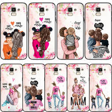 Custom Case Girl Baby Queen Princess Mama Mouse Prince For Samsung Galaxy S10 S8 S6 S7 S9 J2 J3 J5 J7 J4 J6 J8 2018 Plus Cover(China)