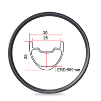 7-TIGER 30 mm breite 25 mm tiefe 29er carbon MTB felgen klammer für XC UD/3K fahrrad räder glossy Finish TMC9325
