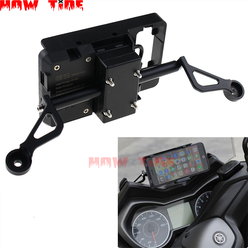 New GPS Smart <font><b>Phone</b></font> Navigation Mount Mounting Bracket Adapter <font><b>Holder</b></font> for Yamaha XMAX300 <font><b>XMAX</b></font> <font><b>300</b></font> image
