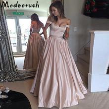 Modecrush Women Sweetheart Sweep Train Prom Dress Wedding Floor-Length Diamond Bridesmaid Evening Gown Vestidos