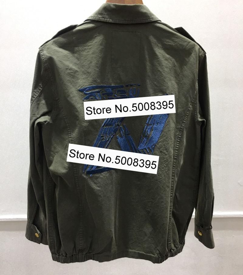 2021SS kadın geri işlemeli pamuklu MILI Parka çocuk ceket ön cepler düğmesi uzun kollu moda ceketler kadın