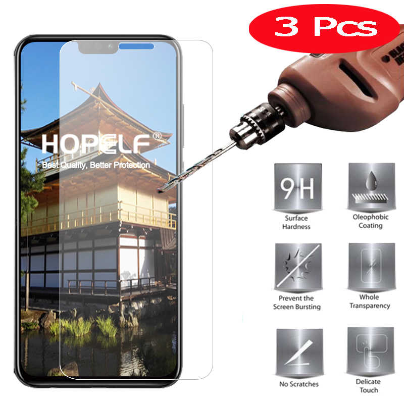 3Pcs Tempered Glass for Huawei Honor 8X Screen Protector 9H 2.5D Phone Protective Glass for Huawei Honor 8X Tempered Glass