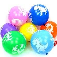 10pcs Cartoon Dinosaur Latex Balloons Happy Birthday Party Decoration Kids Baby Shower Supplies Ballon Baloon