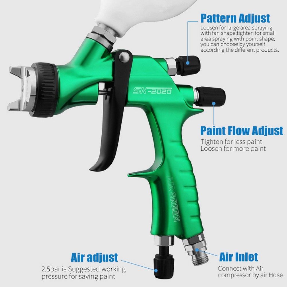 Paint Spray Gun Tip 1.3 mm HVLP RP Airbrush Limited Edition HY5200 professional
