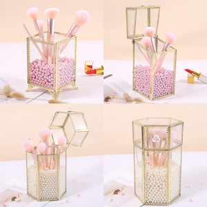 Glass Makeup Brush Box Geometr
