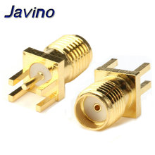 цена на 5Pcs SMA Female Jack Connector For 1.6mm Solder Edge PCB Straight Mount Gold plated RF Connectors Receptacle Solder