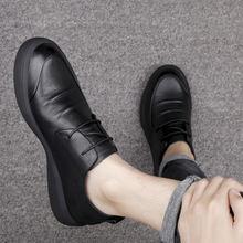 Классические кожаные туфли для мужчин официальная черная кожаная