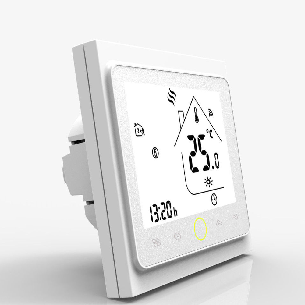BHT-002GC Thermoregulator Temperature Controller Durable Programmable 3A PC Thermostat LCD Screen Wall Mounted For Water/Gas