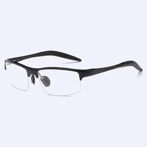 Image 3 - Monture de lunettes optique pour homme, monture en alliage, 8177, Prescription lunettes pour hommes, demi jante