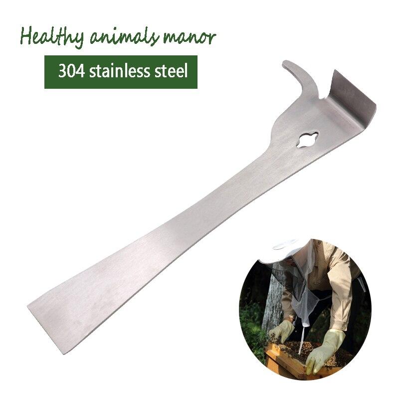 Bee Tool Thumb Type Hive Scraper Stainless Steel Multifunctional Cut Beekeeping Bee Scraper Honey Knife For Beekeeper