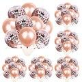10 шт розовые золотые конфетти воздушные шары для взрослых на день рождения воздушные шары украшения 30 40 50 60 воздушные шары с днем рождения т...