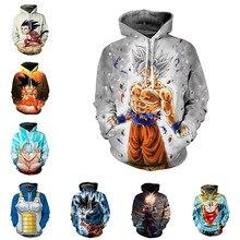 Dragon Ball hoodies Sweatshirt Anime Kakarotto Cosplay Costume Men Coat Hooded Top New