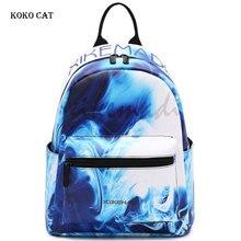 Koko Cat Waterproof Teenagers Girls Backpack Junior High Student School BagsTravel Rucksack  Sac A Dos Mochila Bolsos Mujer