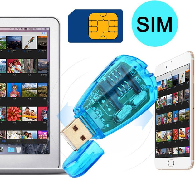 Portable Adapter USB SIM Card Reader Simcard Writer/Copy/Cloner/Backup GSM CDMA WCDMA