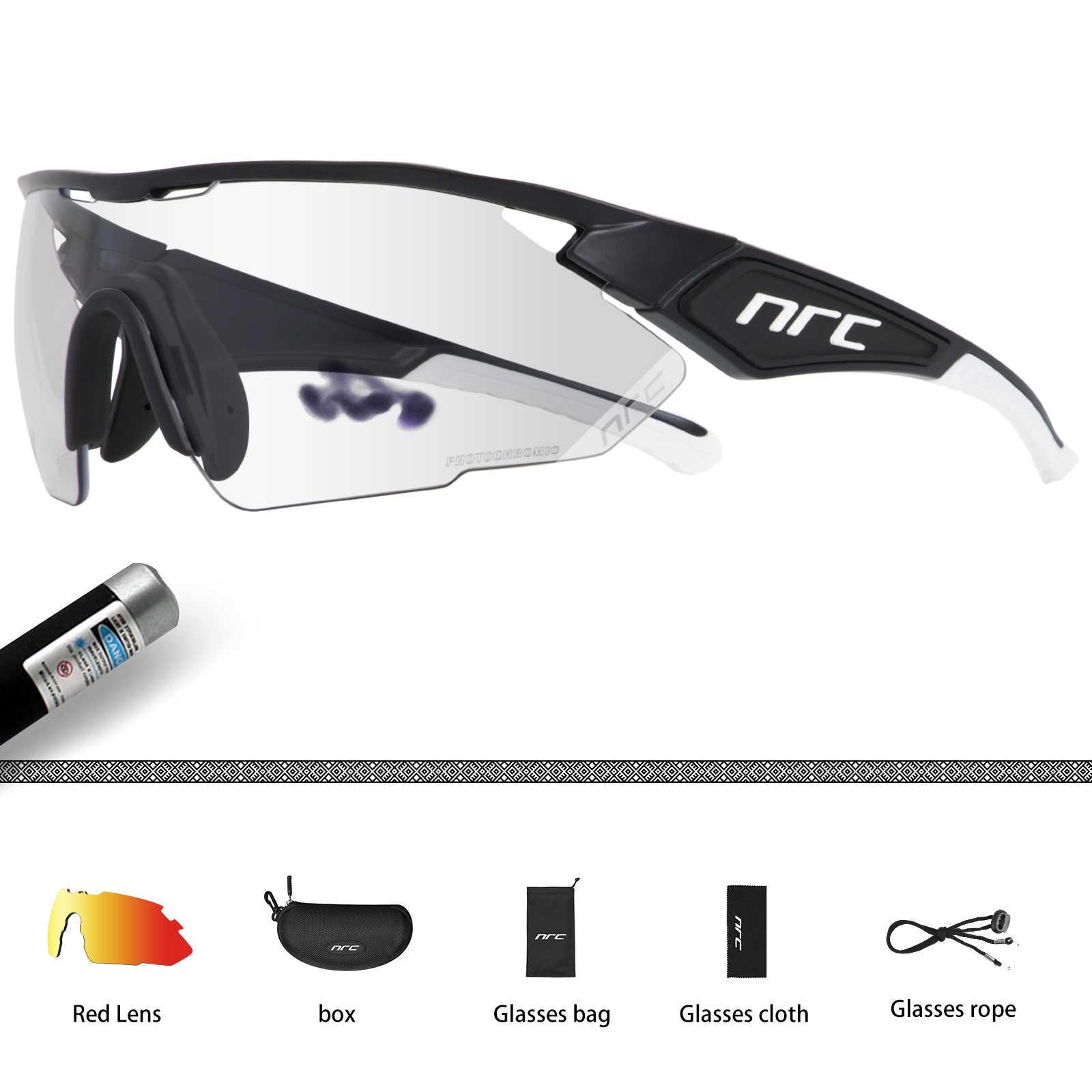 NRC фотохромные велосипедные очки для велосипеда Для мужчин Для женщин Для мужчин MTB велосипеда для верховой езды Рыбалка очки Цвет изменение солнечные очки
