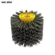 1 шт. 120*100*19 мм нейлоновый абразивный проволочный барабан полировальный круг электрическая щетка для деревообработки металла