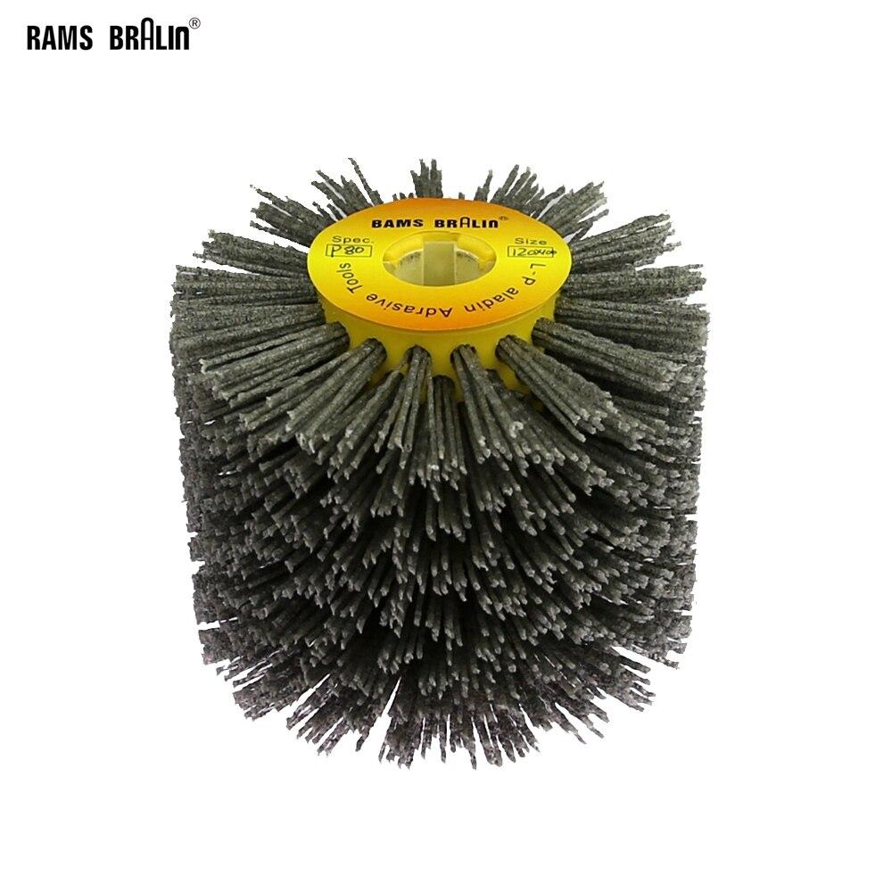 1 pçs 120*100*19mm fio abrasivo de náilon dupont tambor polimento roda escova elétrica para trabalhar metais