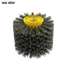 1 pcs 120*100*19mm Nylon Abrasive Wire Drum Polishing Wheel Electric Brush for Woodworking Metalworking