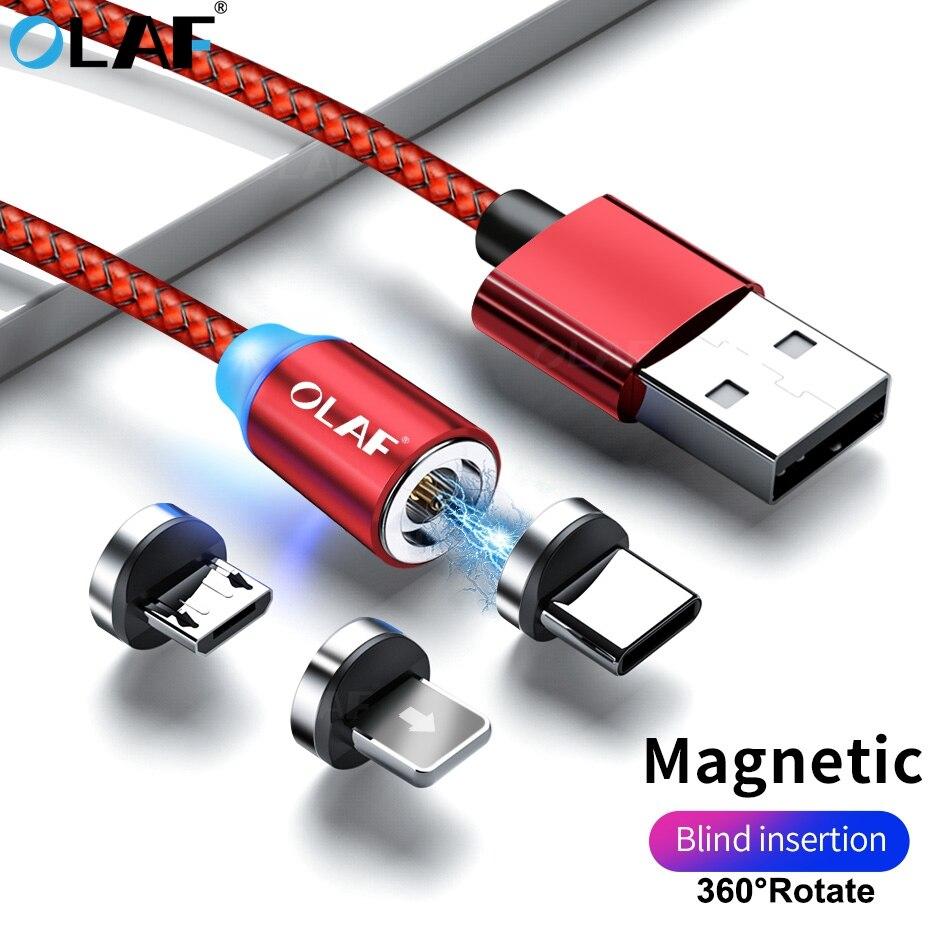 OLAF Magnetische Ladegerät telefon ladekabel Micro USB Kabel Magnetische Kabel 2m USB Typ C USB C Kabel Für iPhone X Samsung Xiaomi