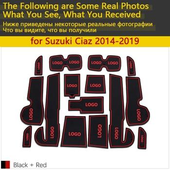 Anti-Slip Coppa di Gomma Porta Cuscino Groove Zerbino per Suzuki Ciaz Maruti Suzuki Ciaz 2014 ~ 2019 Accessori Zerbino per il telefono 2015 2018