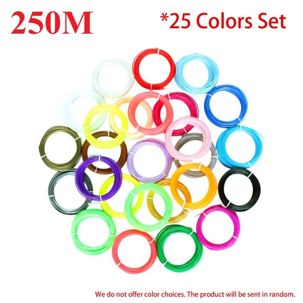 25 Colors 20 Colors 10 Colors/set 3D Printer Pen Filament PLA 1.75mm 3D Printer Supplies Materials For 3D Printing Drawing Pen