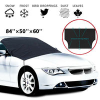 Windshield Cover Snow and Ice for Car Frost Guard Winter Protector Magnetic Auto Black Car front guard cover frost cover|Windshield Sunshades| |  -