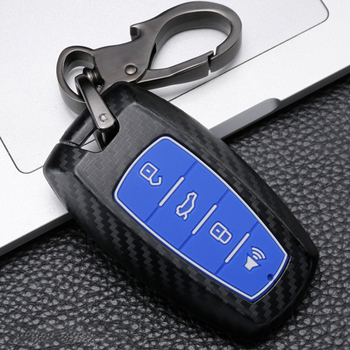 Carbon fiber Car Key Fob Cover Case for Great Wall Haval Coupe H9 GMW H6 H2 F7 F7X 2019 Auto Smart Remote Keyless Protect Shell image