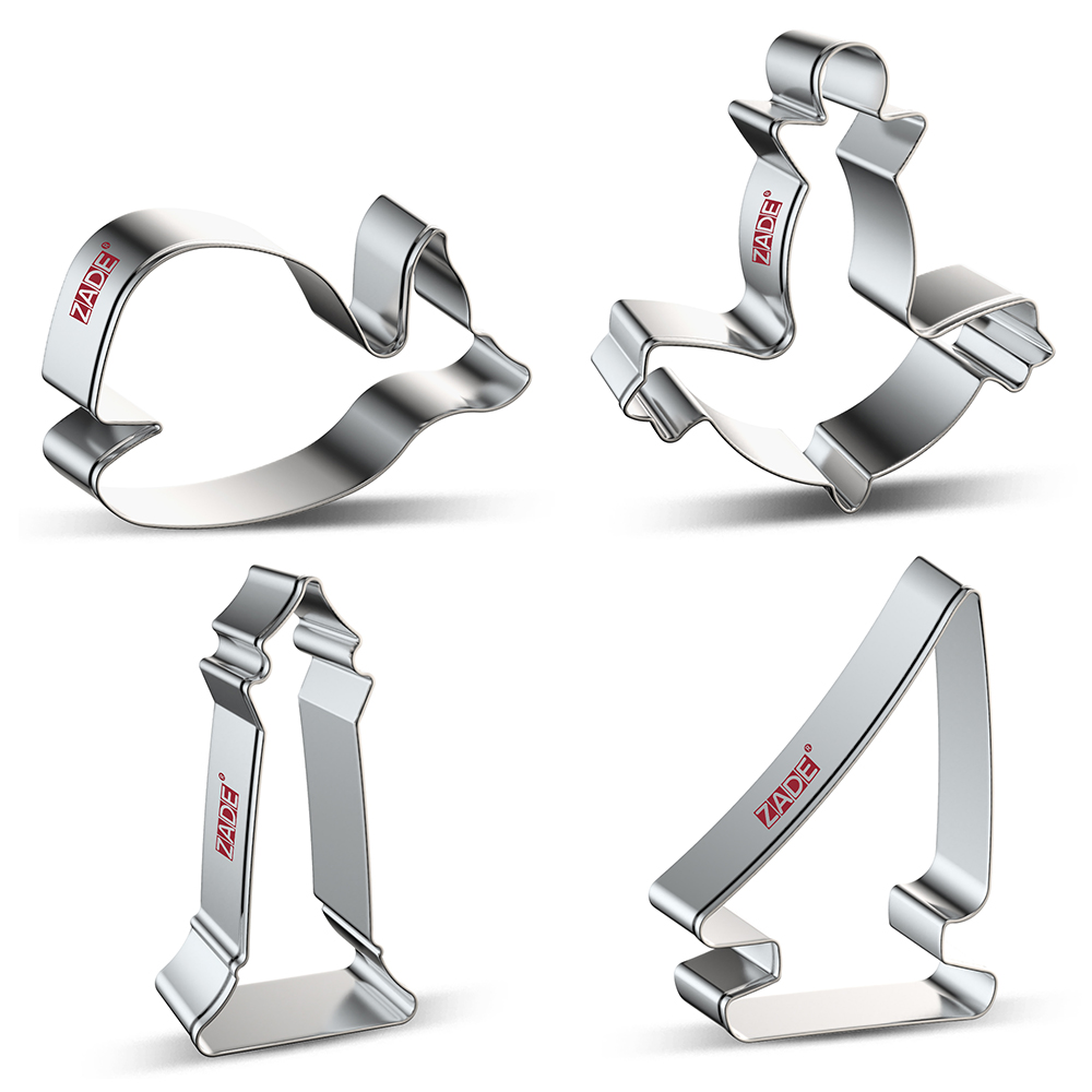 ZADE Ocean Cookie Cutter Cetacean,Sailboat,Lighthouse,Anchor,Biscuit / Fondant / Bread / Pastry Cutters - Stainless Steel