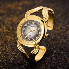 Relojes de pulsera de cuarzo de lujo para mujer, pulsera de oro rosa plateado, Regalo Casual de vestir