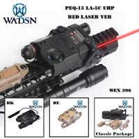 WADSN Airsoft PEQ15 LA-5C Red Dot Lazer LED Taschenlampe LA5 PEQ Tactical LED licht/IR/Rot Laser Waffe lichter WEX396