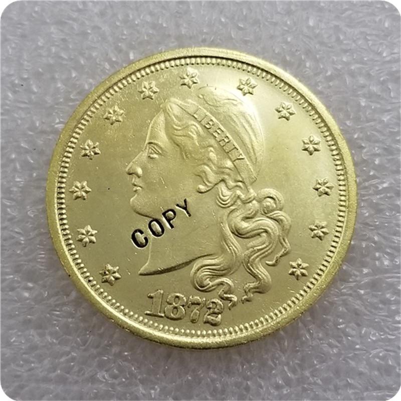 США 1872 амазонические $20,00 золотой узор копия монет памятные монеты-копии монет медаль коллекционные монеты