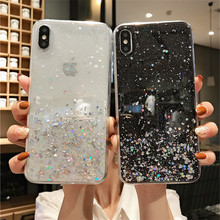 NJIEER Glitter Bling Sequins Case For iphone X 11 Pro XS MAX XR Shinning Transparent 8 7 6 6S Plus Soft TPU