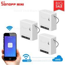 Itead 3/6/9 قطعة Sonoff MINI لتقوم بها بنفسك صغير الجسم التحكم عن بعد Wifi الذكية التبديل دعم التبديل الخارجي العمل مع أليكسا جوجل المنزل