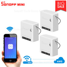 Itead 3/6/9PCS Sonoff MINI DIY Small Body Remote Control Wifi Smart Switch Support External Switch Work With Alexa Google Home