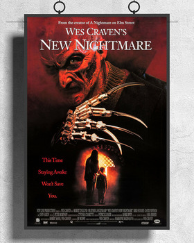 L289 WES CRAVENS NEW NIGHTMARE Movie Freddy Krueger 01 Silk Fabric Poster Art Decor Indoor Painting Gift image