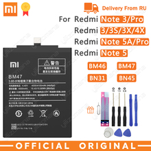Xiao Batería de teléfono BM47 Original, para Xiaomi Redmi 3 3S 3X 4X 3 pro Note 3 5 5A Pro Mi 5X BM46 BN31 BN45, baterías de repuesto